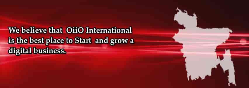 OiiO slogan - We believe that OiiO International is the best place to start and grow a digital business.